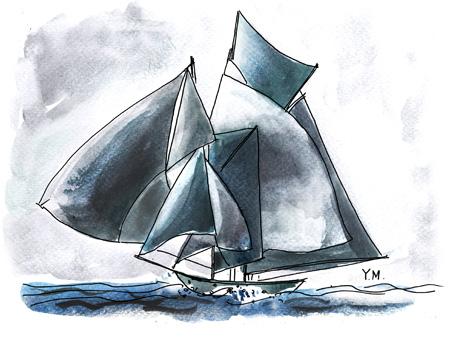 boat by Yukié Matsushita