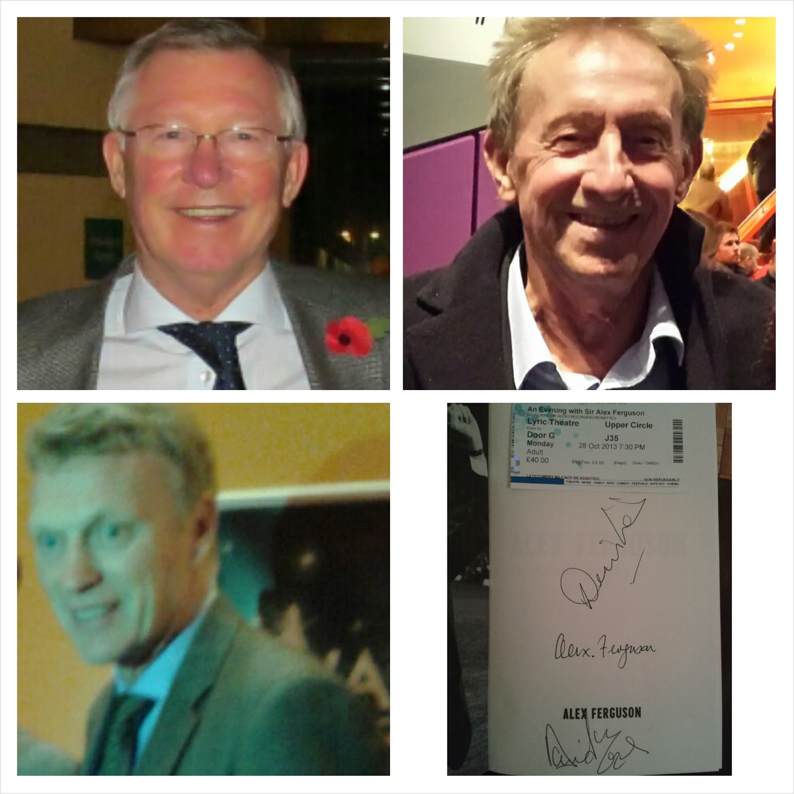 An Evening With Sir Alex Ferguson, plus David Moyes & Denis Law