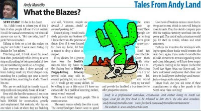 What the Blazes? By Andy Martello, North Las Vegas Voice