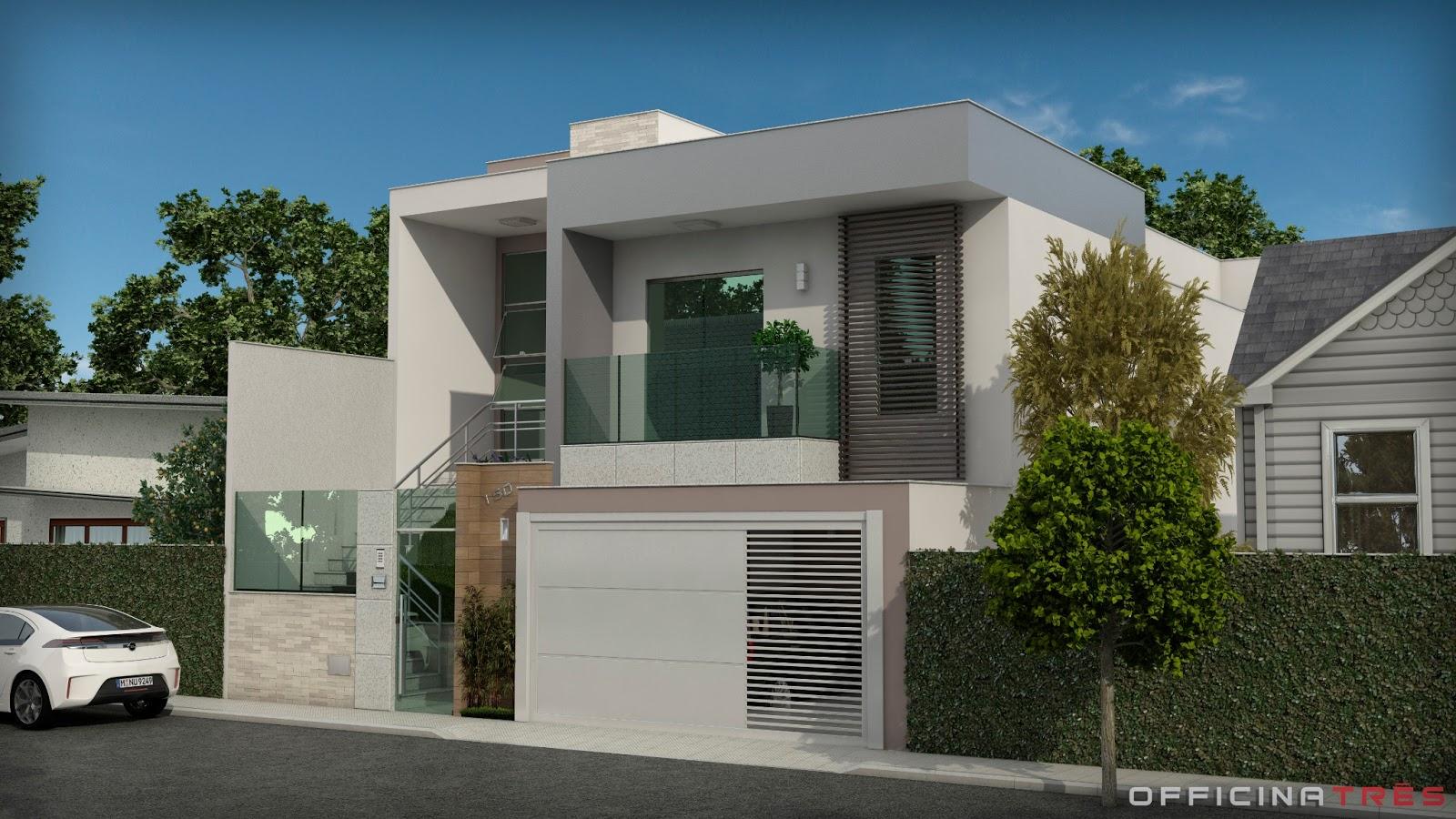 OfficinaTr?s: Casa em estilo contempor?neo, Lajinha-MG