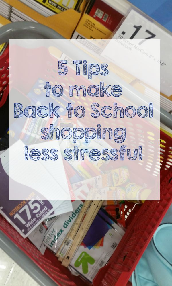 5 Tips to Make back to school shopping less stressful #MomBTS #ad