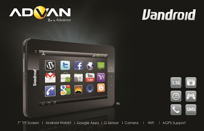 Advan Vandroid T1D,Tablet,Android