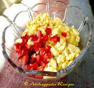 chopped fruits