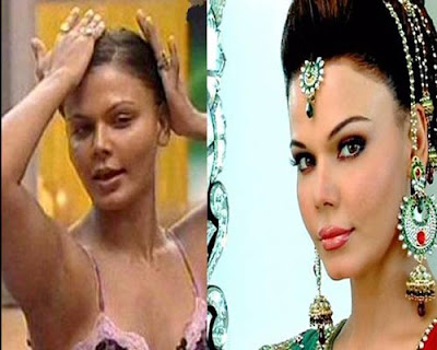 Rakhi Sawant without makeup