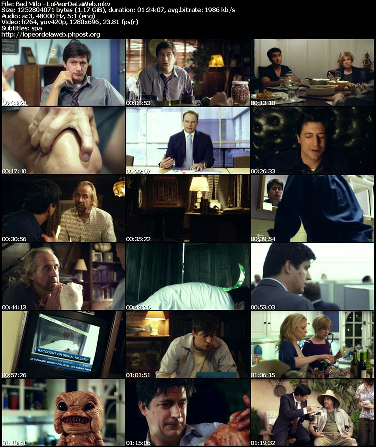 Bad Milo! (2012) BRrip 720p [Subtitulada]