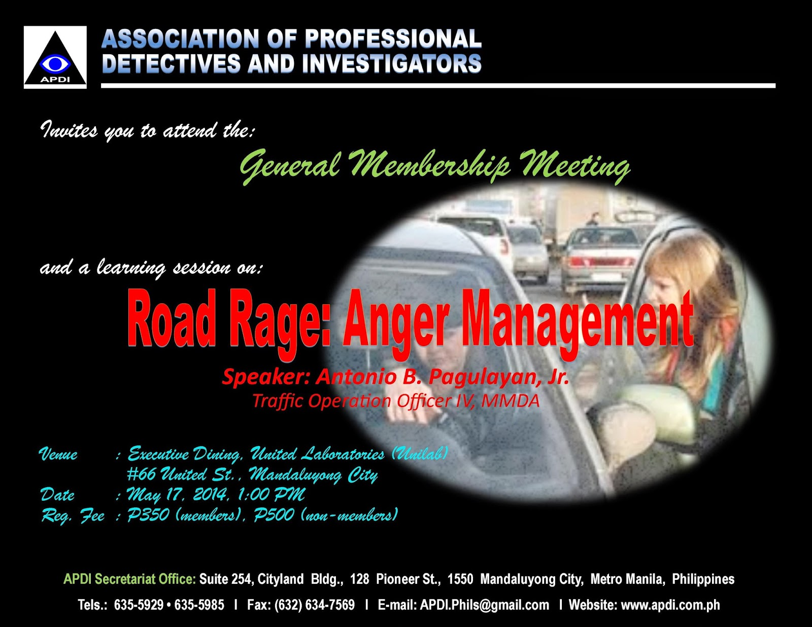 Manila Detectives Road Rage Anger Management