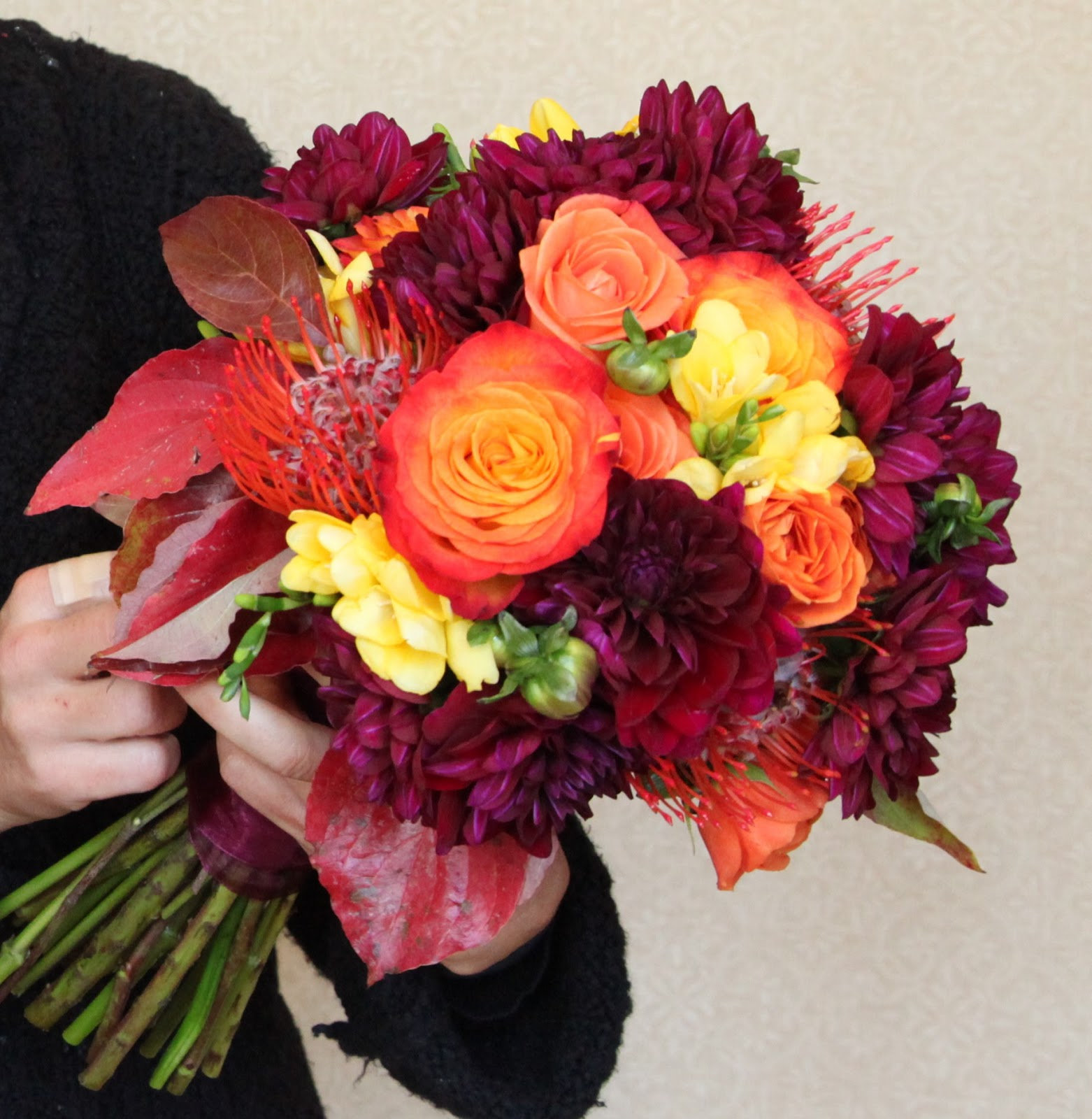 Fall Wedding Flowers at The Peachtree Club | Anik\'s Flowers