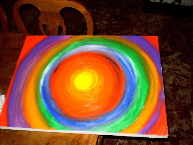 acrylic painting circles