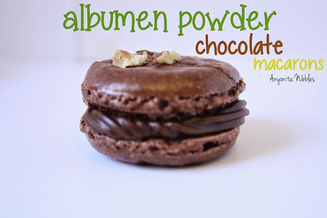 Albumen Powder Chocolate Macarons