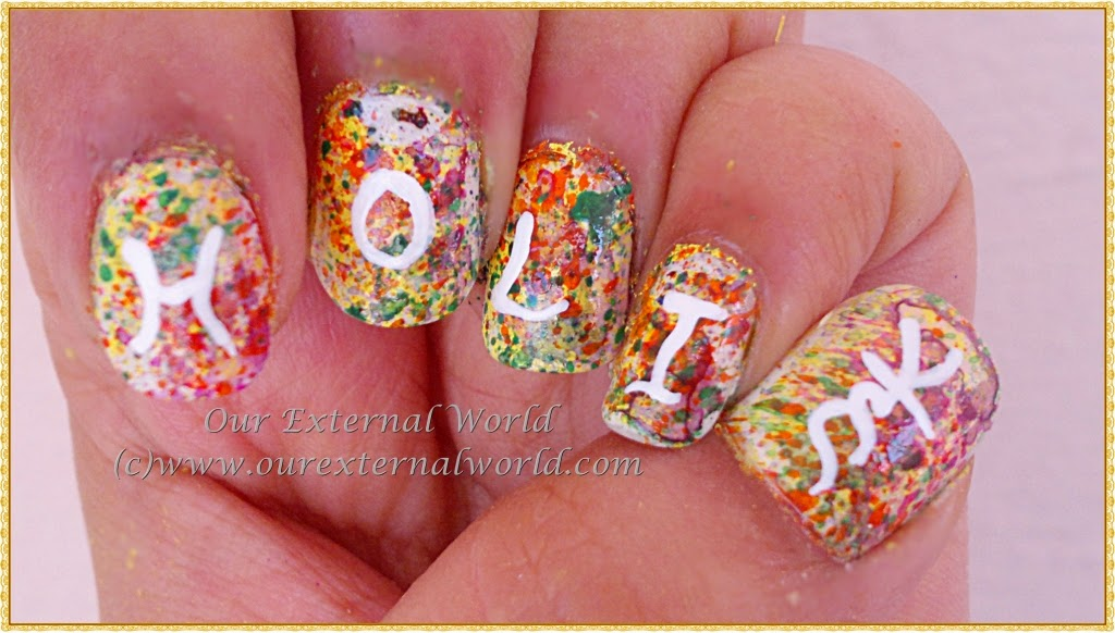 Color Splatter Nails Nail Art Splatter Colors