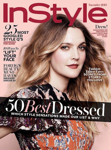 Actress @ Drew Barrymore - InStyle US, November 2015