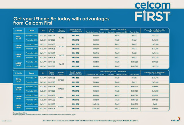Celcom First, Voice + Data Plan Package, iPhone 5s, iPhone 5c, telco package, iPhone, celcom, the cube
