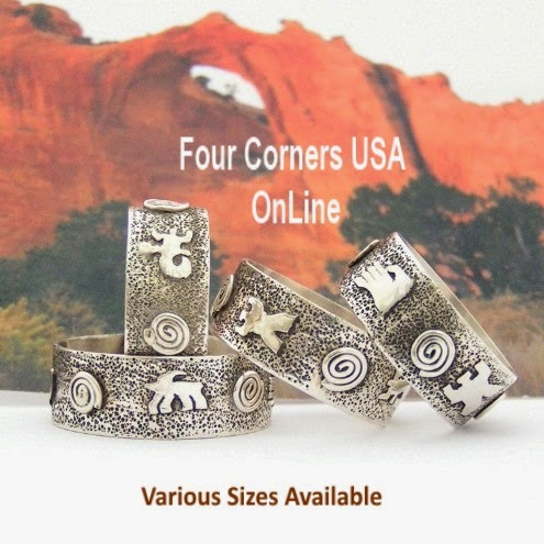 http://stores.fourcornersusaonline.com/sizes-7-to-13-petroglyph-sterling-silver-band-ring-navajo-scott-skeets-nar-1626/