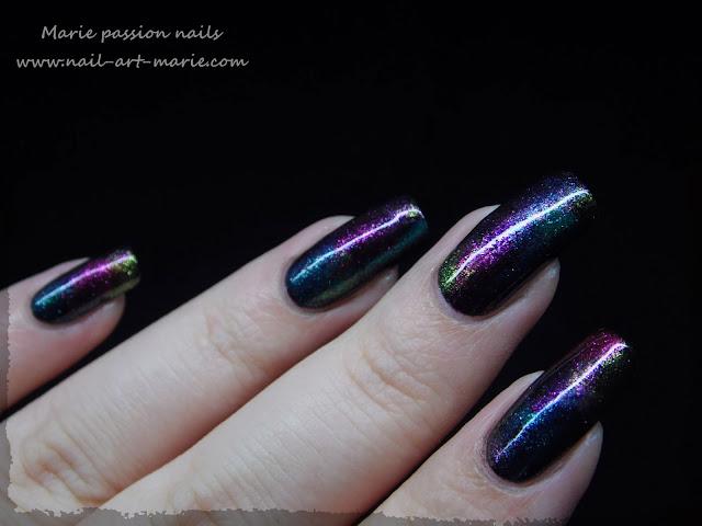 Nail art aurore boréale3