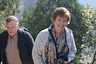 Bob Inich and Sue Inich at the Great Wall at Lianyunling