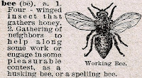 Vintage Bee Image and Dictionary Definition via http://knickoftimeinteriors.blogspot.com/