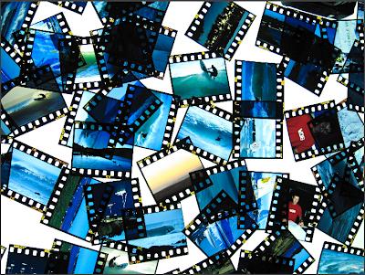 Diapositives sur une table lumineuse Kristen Pelou