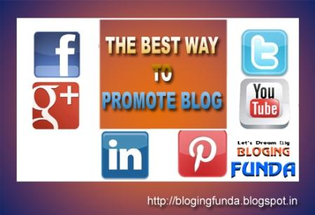 The best way to promote a blog is to understand the media you are using for promotion