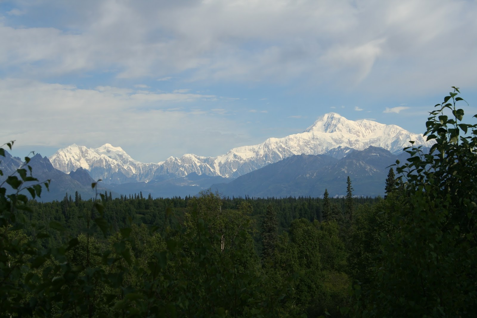 the clouds parted for us and allowed us incredible views of mt mckinley we made many stops on our way to anchorage