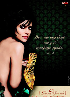mandira in jewellery Ad
