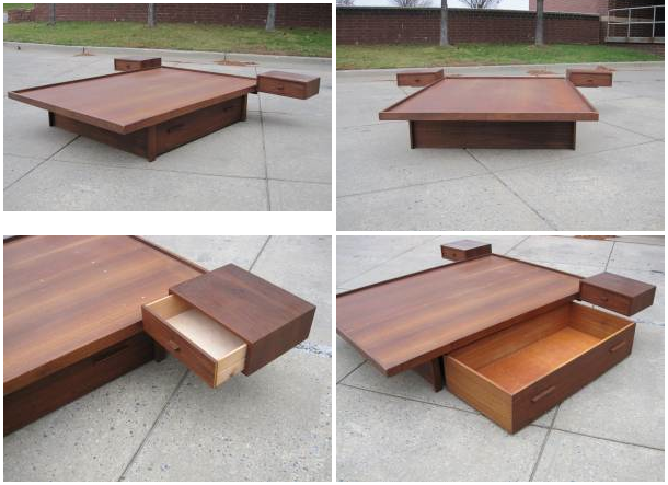 Listed District Still Listed Mid Century Platform Bed