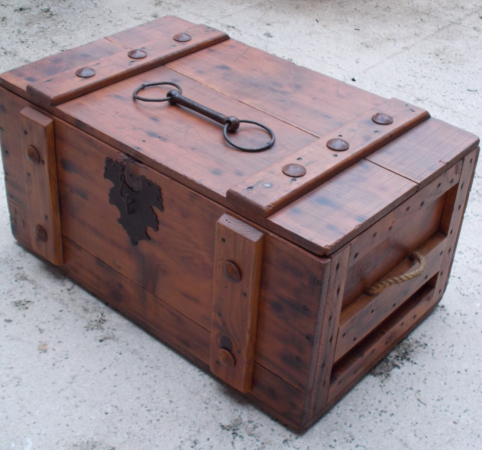 Rustic trunk or treasure chest for Storage treasures