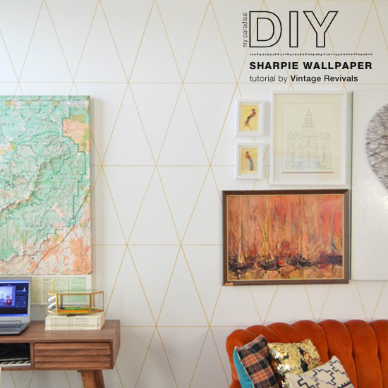 How to make a sharpie wallpaper tutorial by @vintagerevivals #diy #tutorial