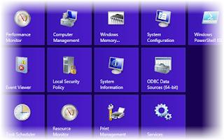 Hiển thị các administrative tools lên màn hình Start của Windows 8 Window8tool1