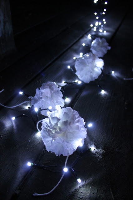 cotton ball lighs diy