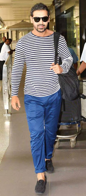 John Abraham spotted at airport with Fans