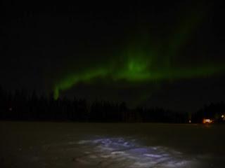 Finland Luosto Green Dancing aurora borealis