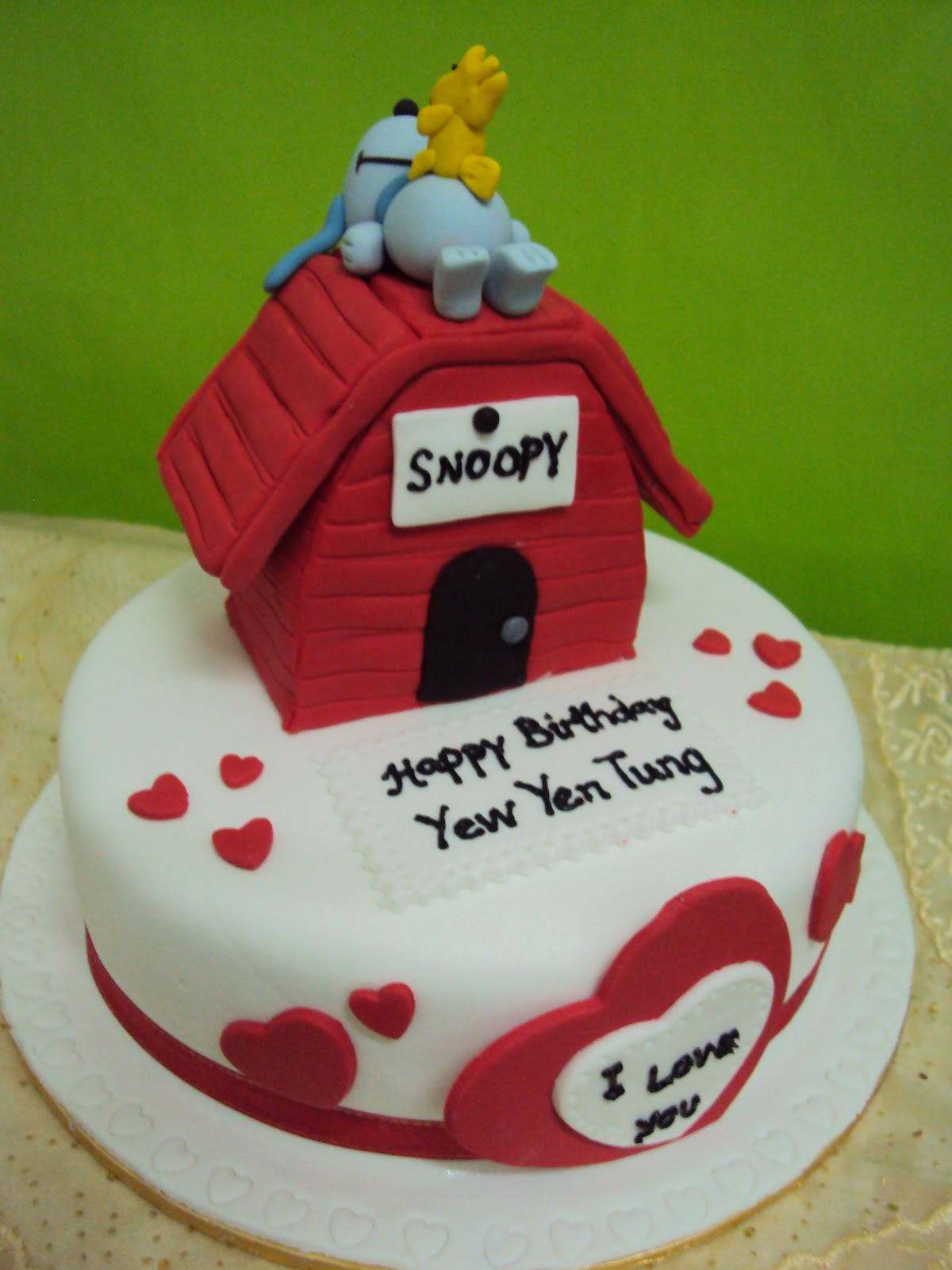 Lmis Cakes Cupcakes Ipoh Contact 0125991233 3D Snoopy Cake