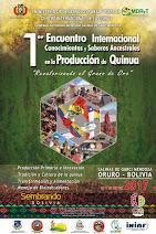 1er Encuentro Internacional Conocimientos y saberes Ancestrales en la Producción de Quinua