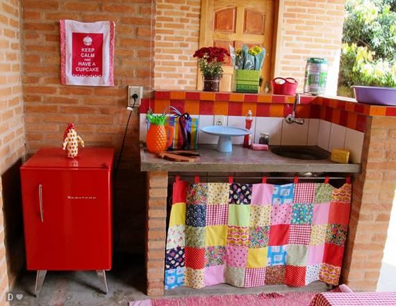 decoracao cozinha diy:Samara Pinheiro: Cortina na Pia.