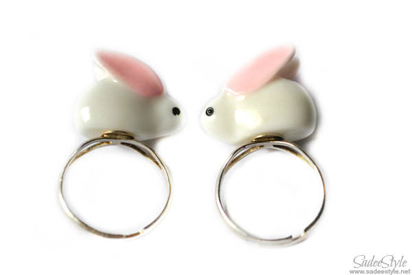 Fancy Bunny Rings by Romwe