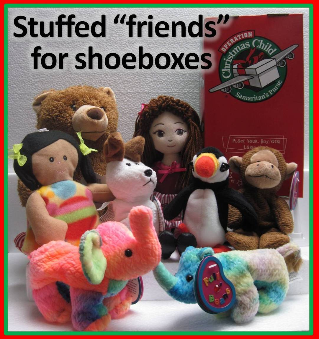 why we pack stuffed animals in all our operation christmas child shoeboxes - Christmas Stuffed Animals