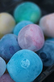 Frozen ice chalk marbles are a fun way for kids to play and create outside