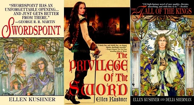 Book Covers of The Worlds of Riverside by Ellen Kushner and Delia Sherman
