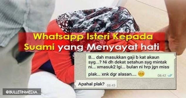 WhatsApp Suami Isteri Yang Pastinya Menyayat Hati Sesiapa Saja Yang Membacanya...