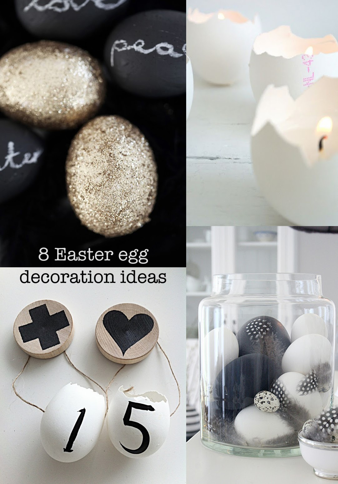 {Craft} 8 creative ideas for your Easter eggs