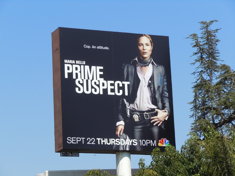 Maria Bello Prime Suspect TV billboard