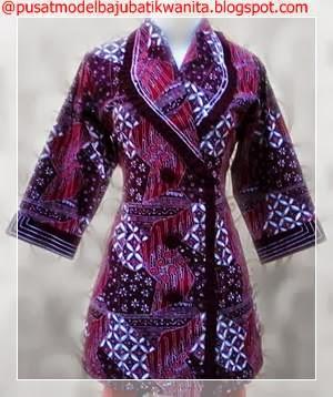 Model baju batik wanita terbaru masa kini