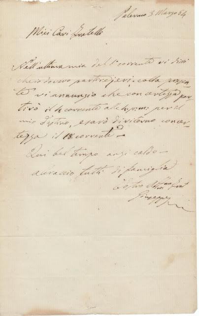 Lettera del Dr. G. Basile
