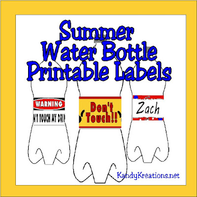 Stay organized and hydrated this summer with these fun water bottle label printables. With four designs, you can enjoy some personalized drinks for everyone.