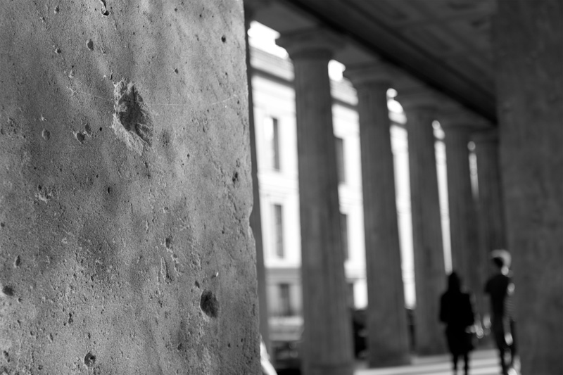 bullet marks on wall war wounds in Berlin