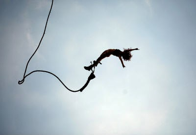 Bungee jumping in Goa - Anjuna