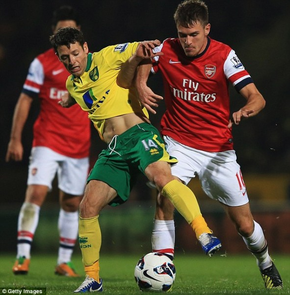 Hasil Pertandingan Norwich vs Arsenal 1-0, 20 Oktober 2012