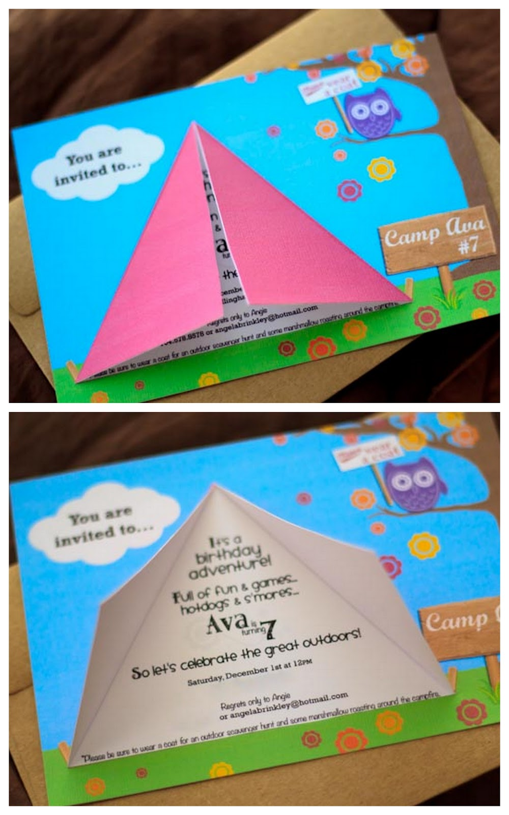 Camping Birthday Party Invitations and get inspiration to create nice invitation ideas