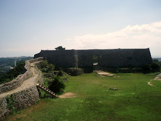 Nakagusuku castle ruins on okinawa