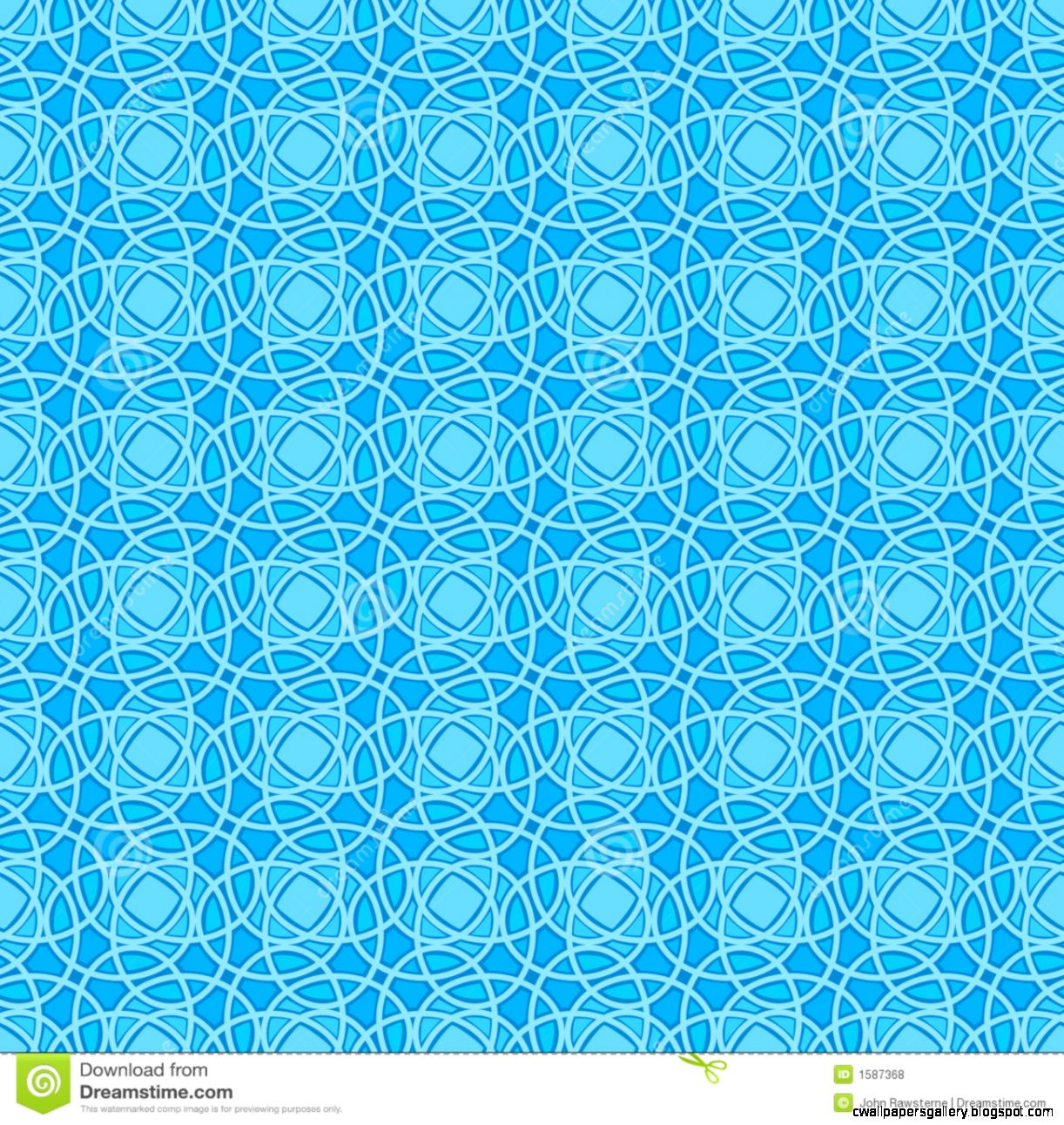 Seamless Wallpaper Pattern In Blue Royalty Free Stock Photos